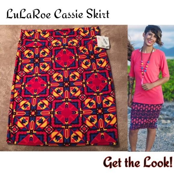 LuLaRoe Dresses & Skirts - LuLaRoe Cassie Stretch Pencil Skirt Tribal Boho 2X